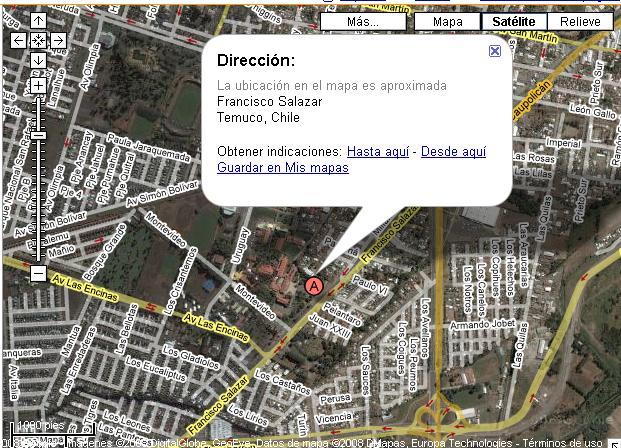 Ufro en google maps