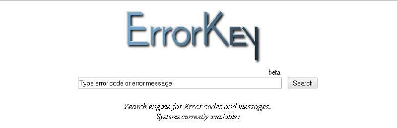 Error Key